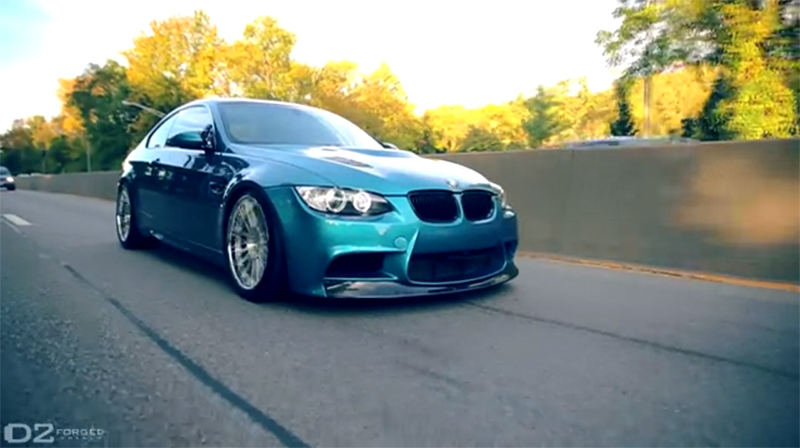 Video Bmw M3 E92 Atlantis Blue Cu Jante D2forged Cv13